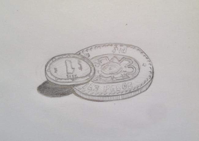 Once pesos
